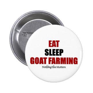 Eat sleep Goat farming 6 Cm Round Badge