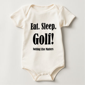 eat sleep golf baby bodysuit