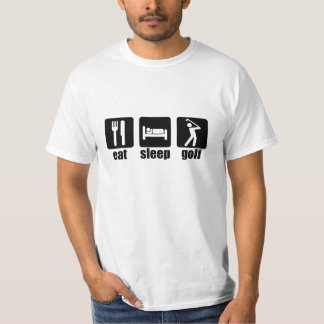Eat Sleep Golf - Black T-Shirt