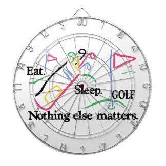 Eat Sleep Golf Dartboard With Darts