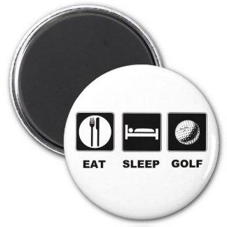 Eat Sleep Golf Fridge Magnets