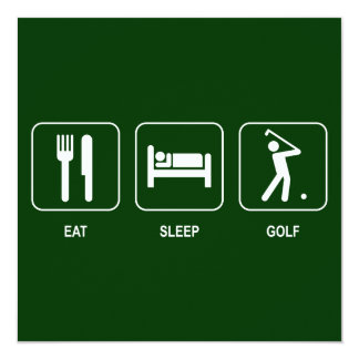 Eat Sleep Golf Invitation