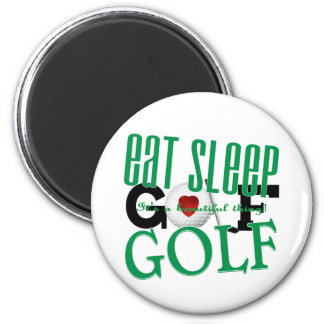 eat sleep Golf Magnet