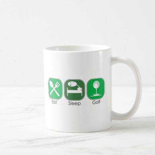 Eat Sleep Golf Coffee Mug