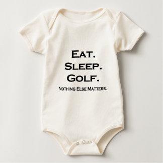 Eat sleep golf, Nothing else matters Baby Bodysuit
