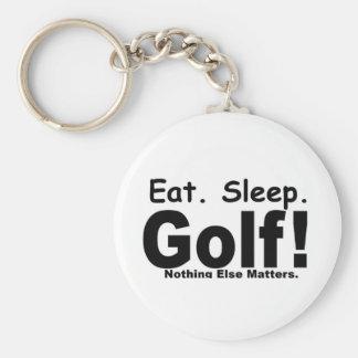 Eat Sleep Golf - Nothing Else Matters Basic Round Button Key Ring