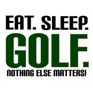 Eat Sleep Golf - Nothing Else Matters! Postcard