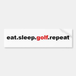 eat sleep golf repeat bumper sticker