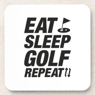 Eat Sleep Golf Repeat Coaster