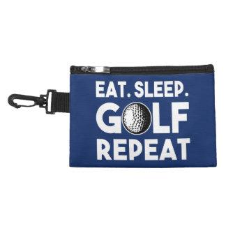 Eat Sleep Golf Repeat funny golf bag Accessories Bag
