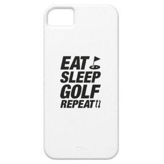 Eat Sleep Golf Repeat iPhone 5 Covers