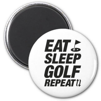 Eat Sleep Golf Repeat Magnet