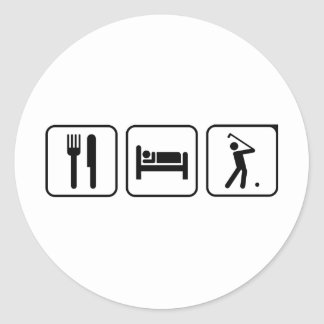EAT SLEEP GOLF ROUND STICKER