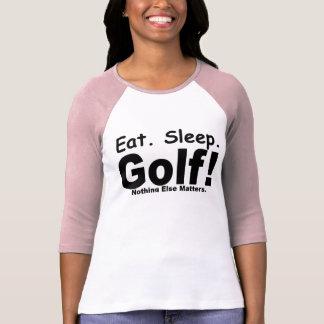 eat, sleep, golf shirts
