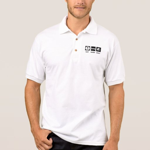 Eat Sleep Golf Polo Shirts