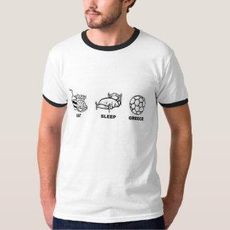 Eat sleep greece t shirts