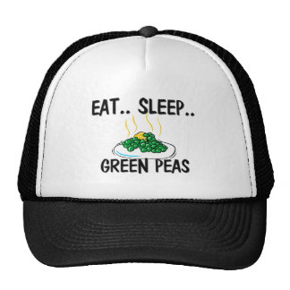 Eat Sleep GREEN PEAS Mesh Hats
