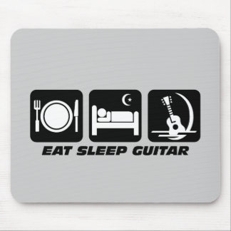 Eat sleep guitar mouse pad