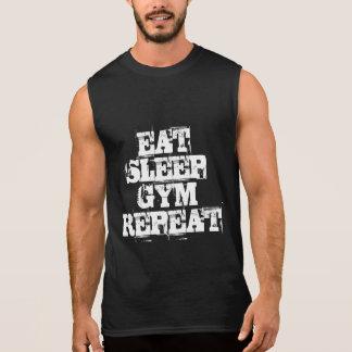 EAT SLEEP GYM REPEAT sleeveless shirt for men