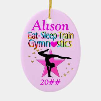 EAT SLEEP GYMNASTICS PERSONALIZED ORNAMENT