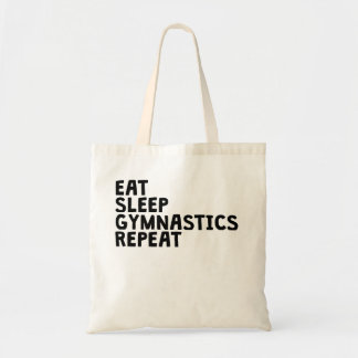 Eat Sleep Gymnastics Repeat Tote Bag