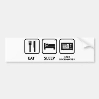 Eat Sleep Hack Microwaves Bumper Sticker