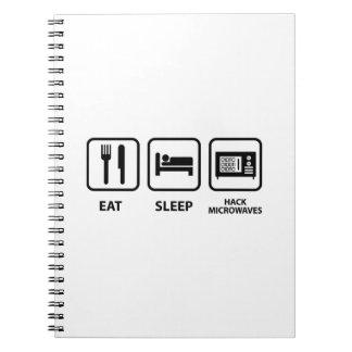 Eat Sleep Hack Microwaves Notebook