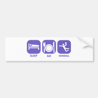 eat sleep handball bumper sticker