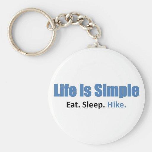 Eat, Sleep, Hike Keychains