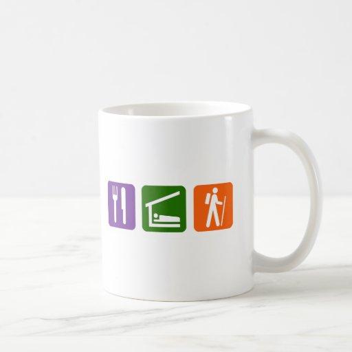 Eat Sleep Hiking Mugs