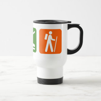 Eat Sleep Hiking 15 Oz Stainless Steel Travel Mug