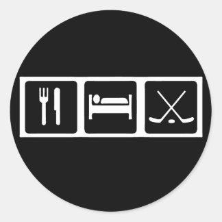 Eat, Sleep, Hockey Classic Round Sticker