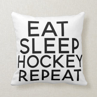 Eat Sleep Hockey Pillow Christmas Present