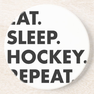Eat Sleep Hockey Repeat Coaster