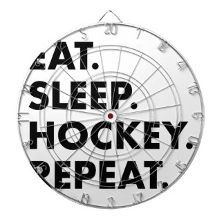 Eat Sleep Hockey Repeat Dartboard