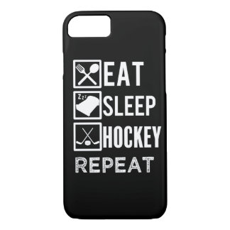 Eat Sleep Hockey Repeat funny mens phone case