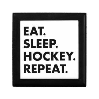 Eat Sleep Hockey Repeat Gift Box
