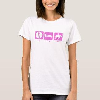 eat sleep horse pink T-Shirt