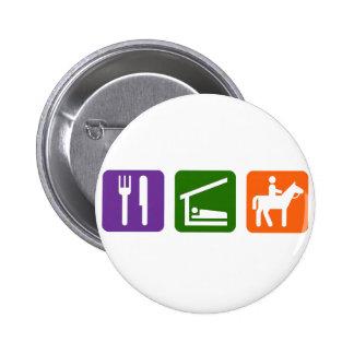 Eat Sleep Horseback Riding Button