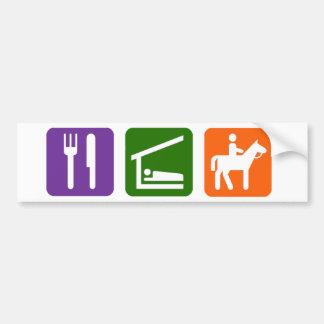 Eat Sleep Horseback Riding Bumper Sticker