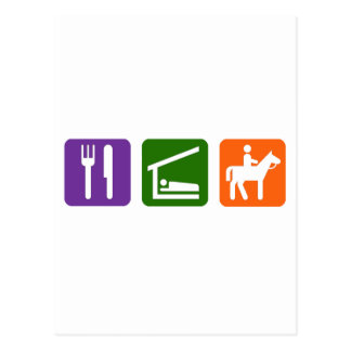 Eat Sleep Horseback Riding Postcard
