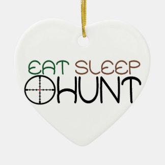 eat, sleep, hunt ceramic ornament
