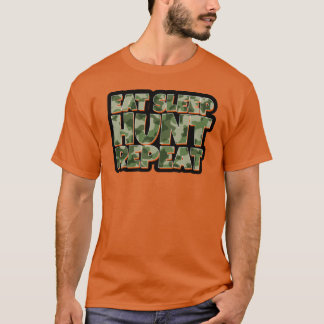 Eat Sleep Hunt Repeat Men's Funny Tshirt