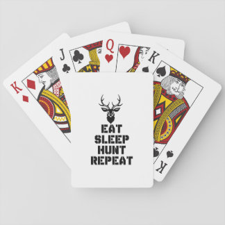 Eat Sleep Hunt Repeat Poker Deck