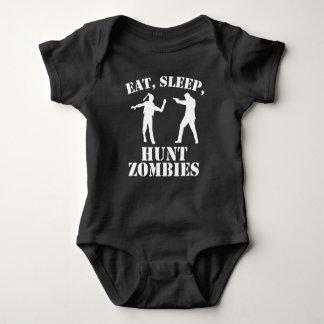 Eat Sleep Hunt Zombies Baby Bodysuit