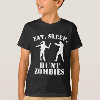 Eat Sleep Hunt Zombies T-Shirt