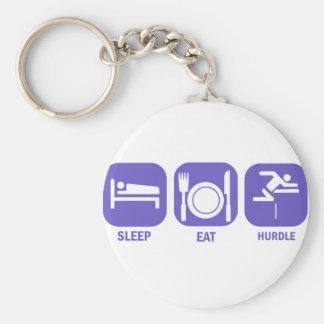 eat sleep hurdle key ring