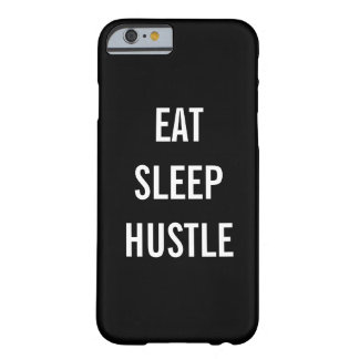 Eat Sleep Hustle | Black and White Typography Barely There iPhone 6 Case