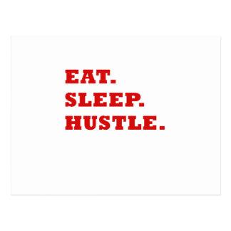 Eat Sleep Hustle Postcard