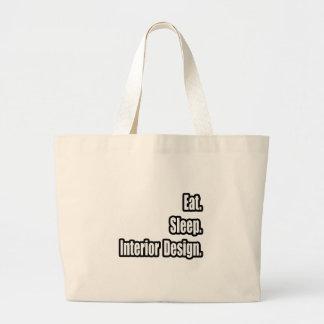 Eat. Sleep. Interior Design. Tote Bags